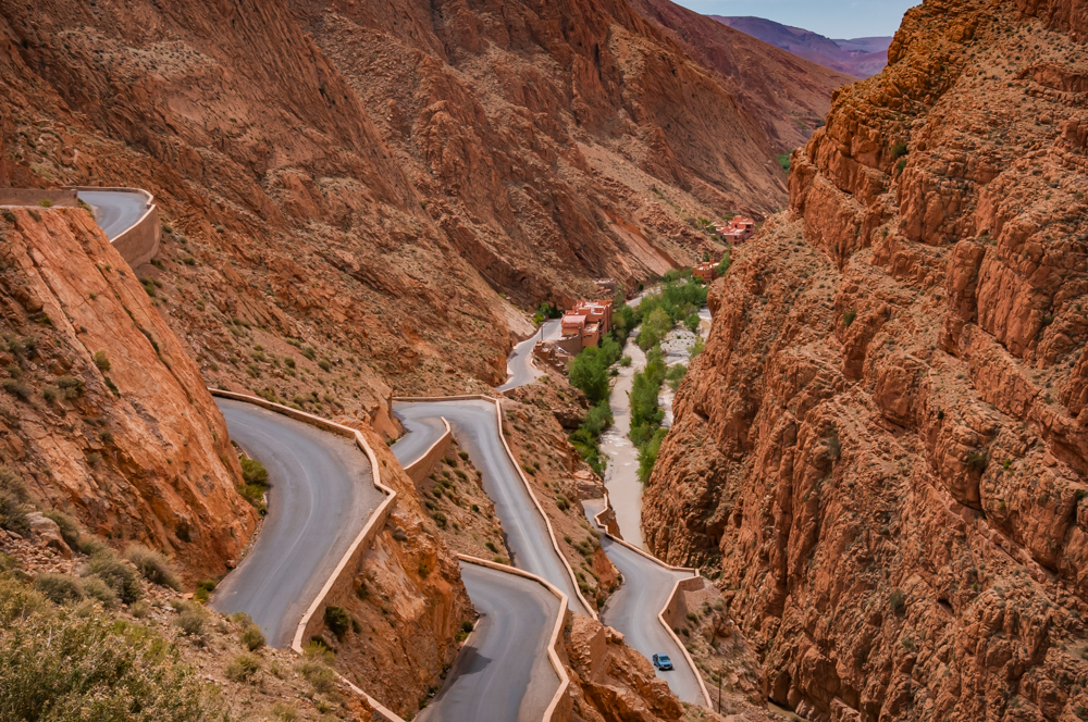 Down into Morocco's Dadas Gorge - Digital(From Above) - Cindy Carlsson