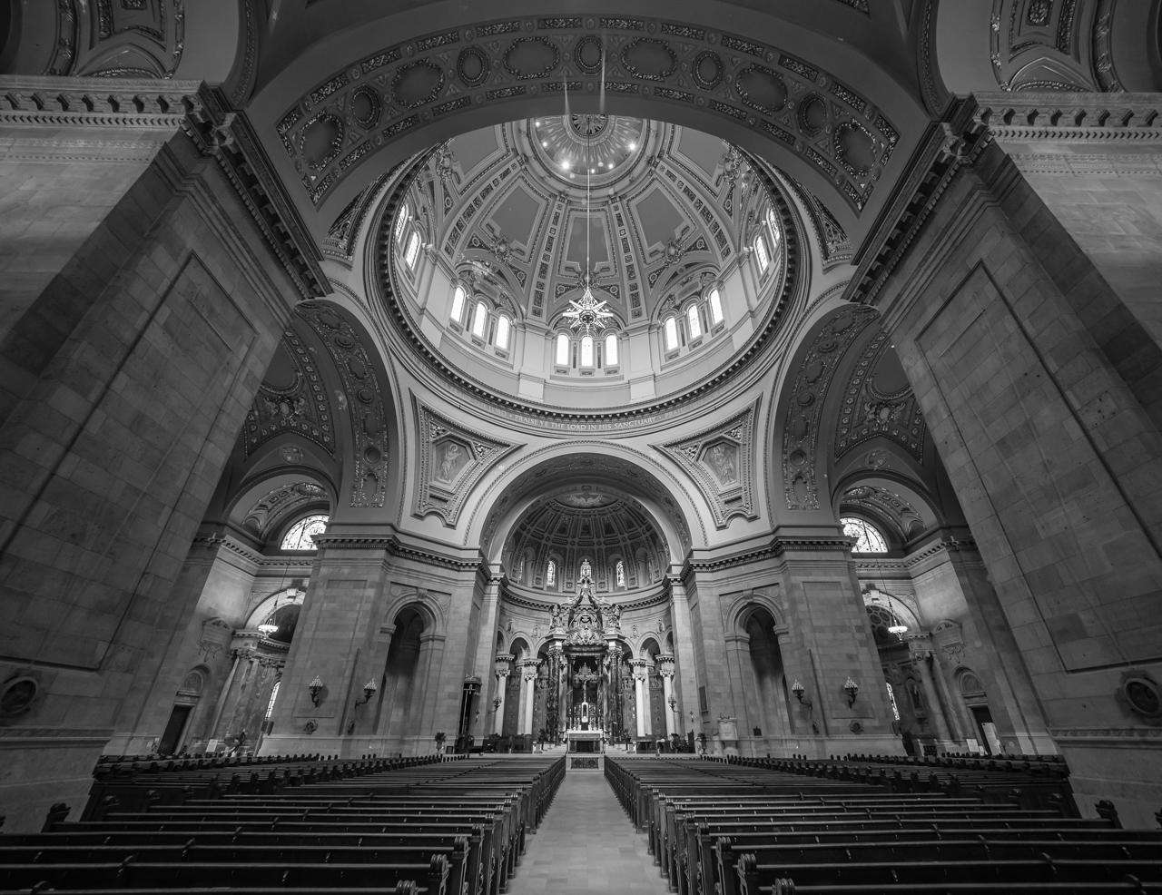 Sanctuary - Monochrome Print - Bob Muschewske