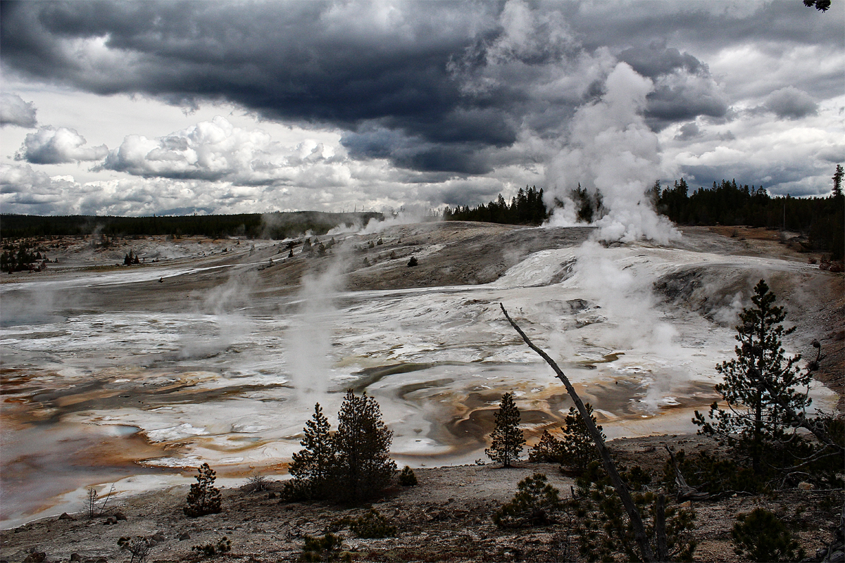 Norris Geyser Basin Yellowstone - Digital(Realistic) - Name Withheld Per Request