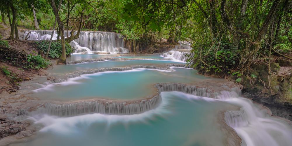Kuang Si Waterfall Laos - Digital (Nature) - Cindy Carlsson