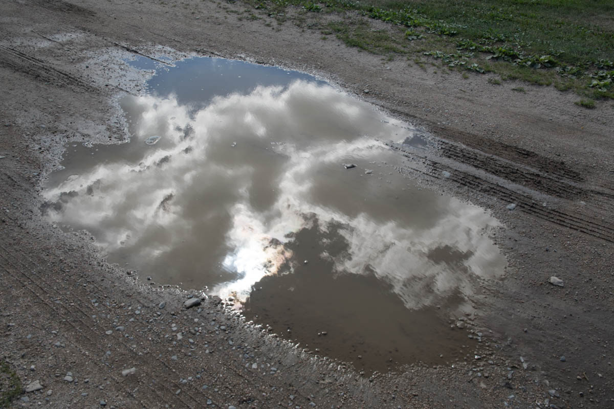 Clouds in Puddle - Color Print - Name Withheld Per Request