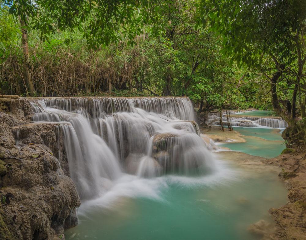Kuang Si Waterfall Laos - Color Print - Cindy Carlsson