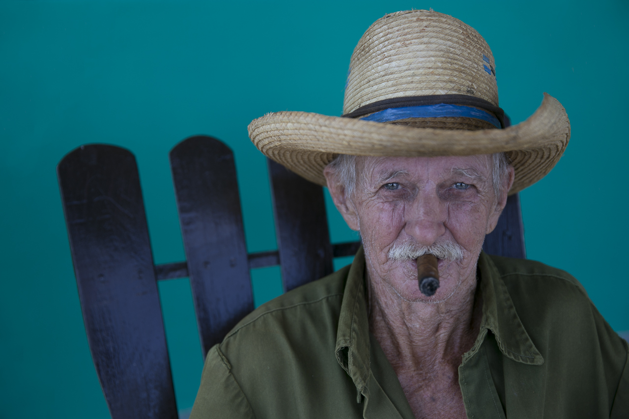Man With Cigar - Color Print - Name Withheld Per Request