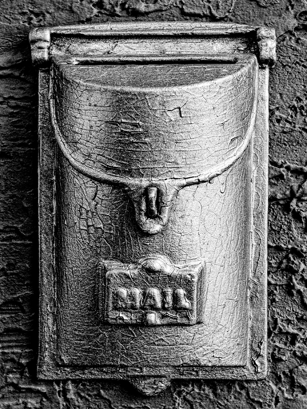 Grandma's Painted Mailbox - Digital(Monochrome) - Name Withheld Per Request