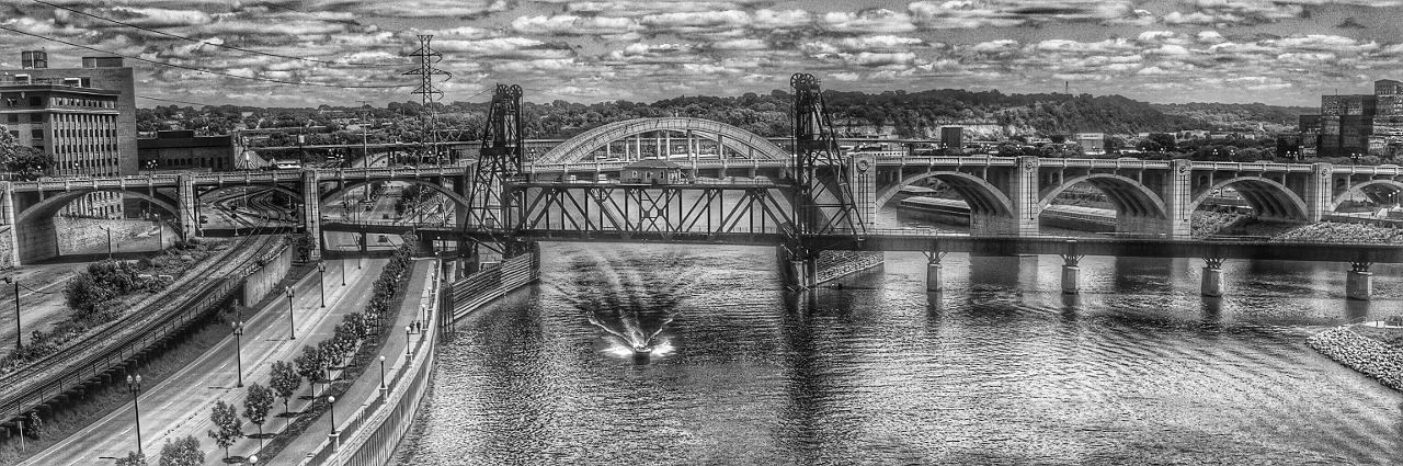 Robert Street Bridges - Digital(Monochrome) - Name Withheld Per Request