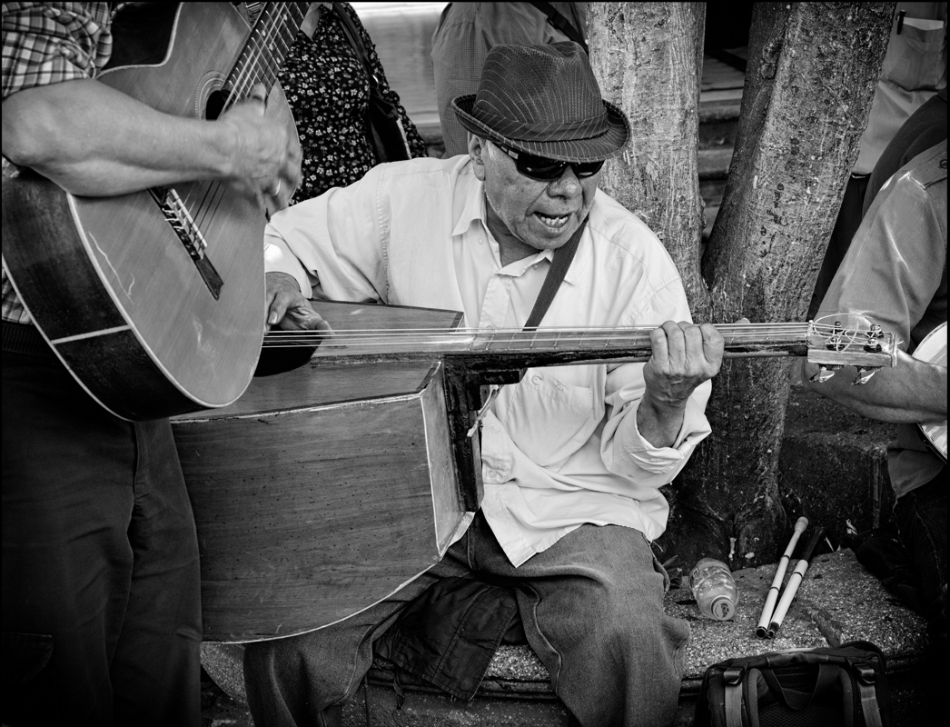 Jamming in the Street - Monochrome Print - Name Withheld Per Request