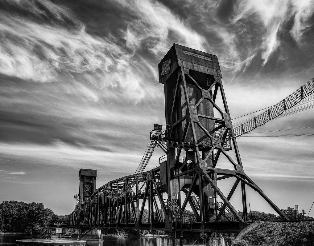 Hastings Train Bridge - Monochrome Print - Name Withheld Per Request
