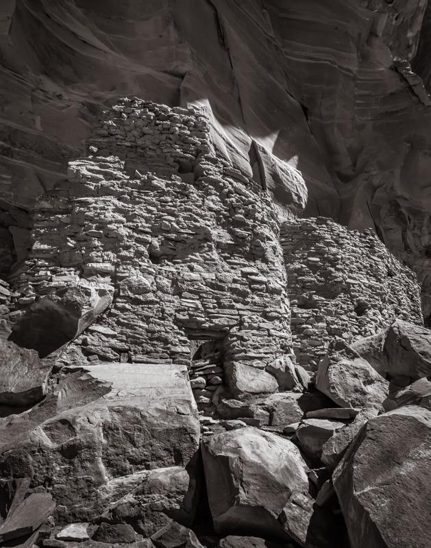 Ancient dwelling Arizona - Monochrome Print - Cindy Carlsson
