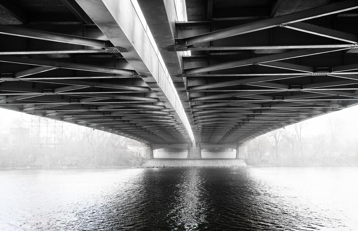 First Bridge - Monochrome Print - Joe Schufman