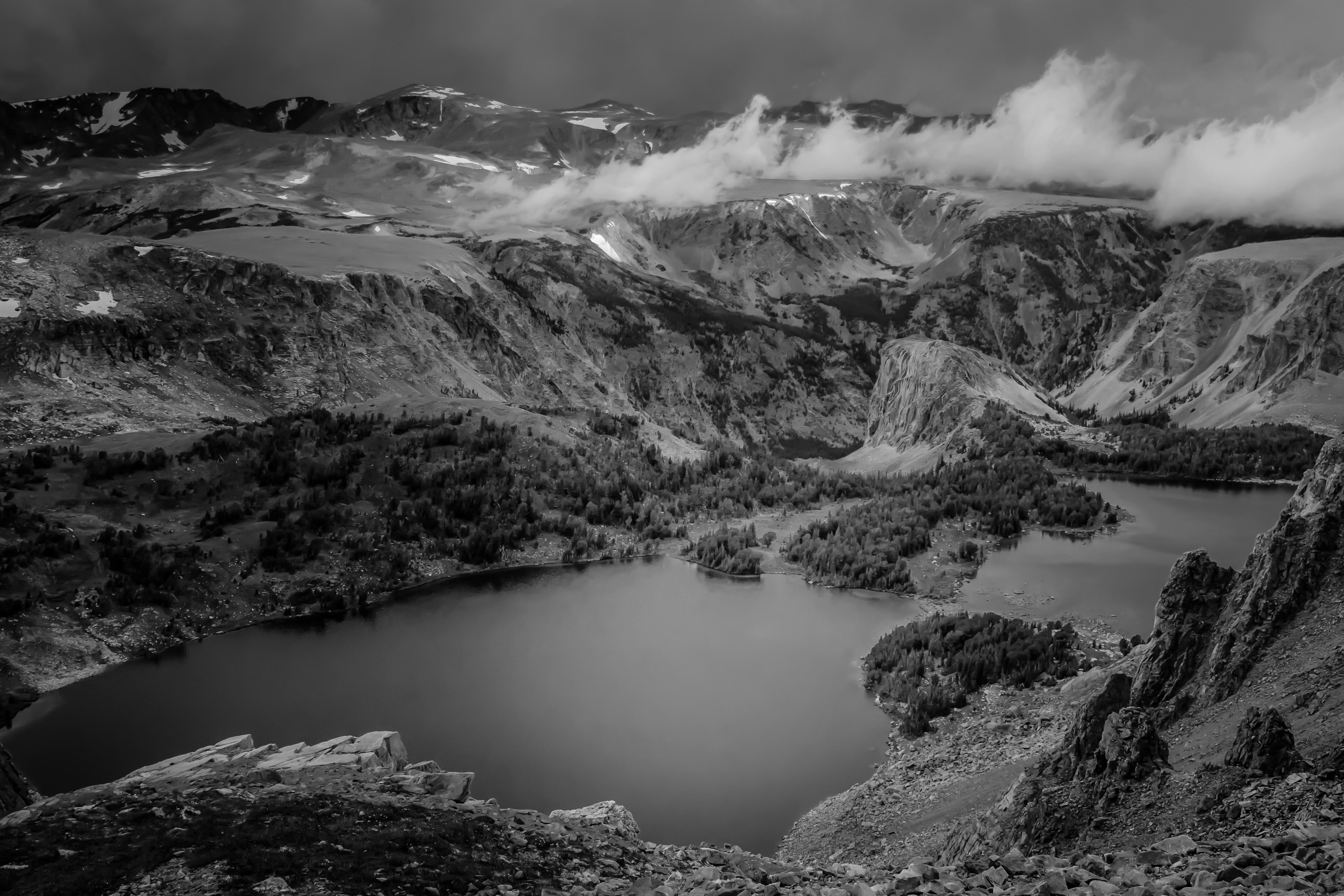 Alpine Lake - Monochrome Print - Name Withheld Per Request