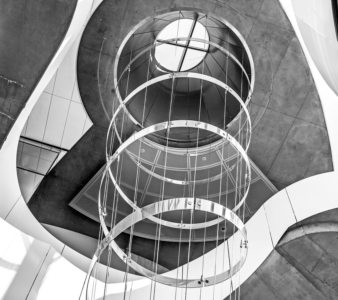 Spiral Through the Roof - Monochrome Print - Name Withheld Per Request