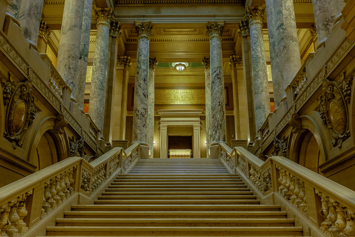 State Capitol Stairway - Color Print - Name Withheld Per Request