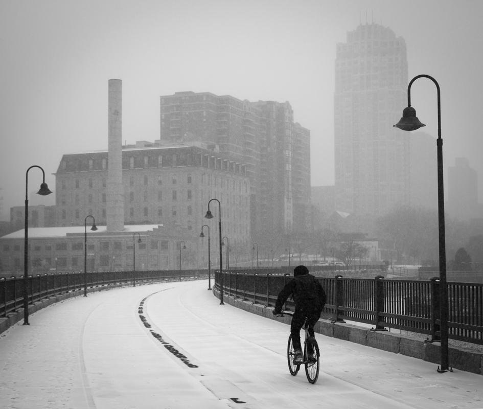 Bicycling to work, Minneapolis - Digital (Phototravel) - Bill Wesen