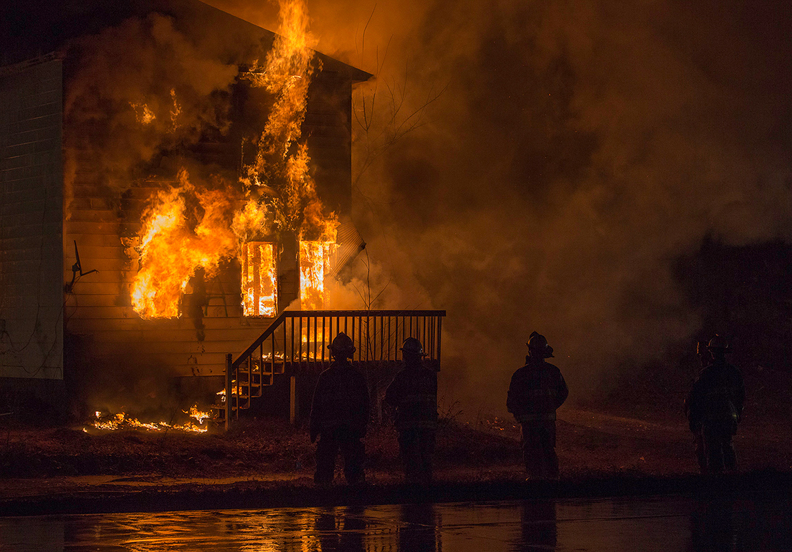 House on Fire - Digital (Photojournalism) - Name Withheld Per Request