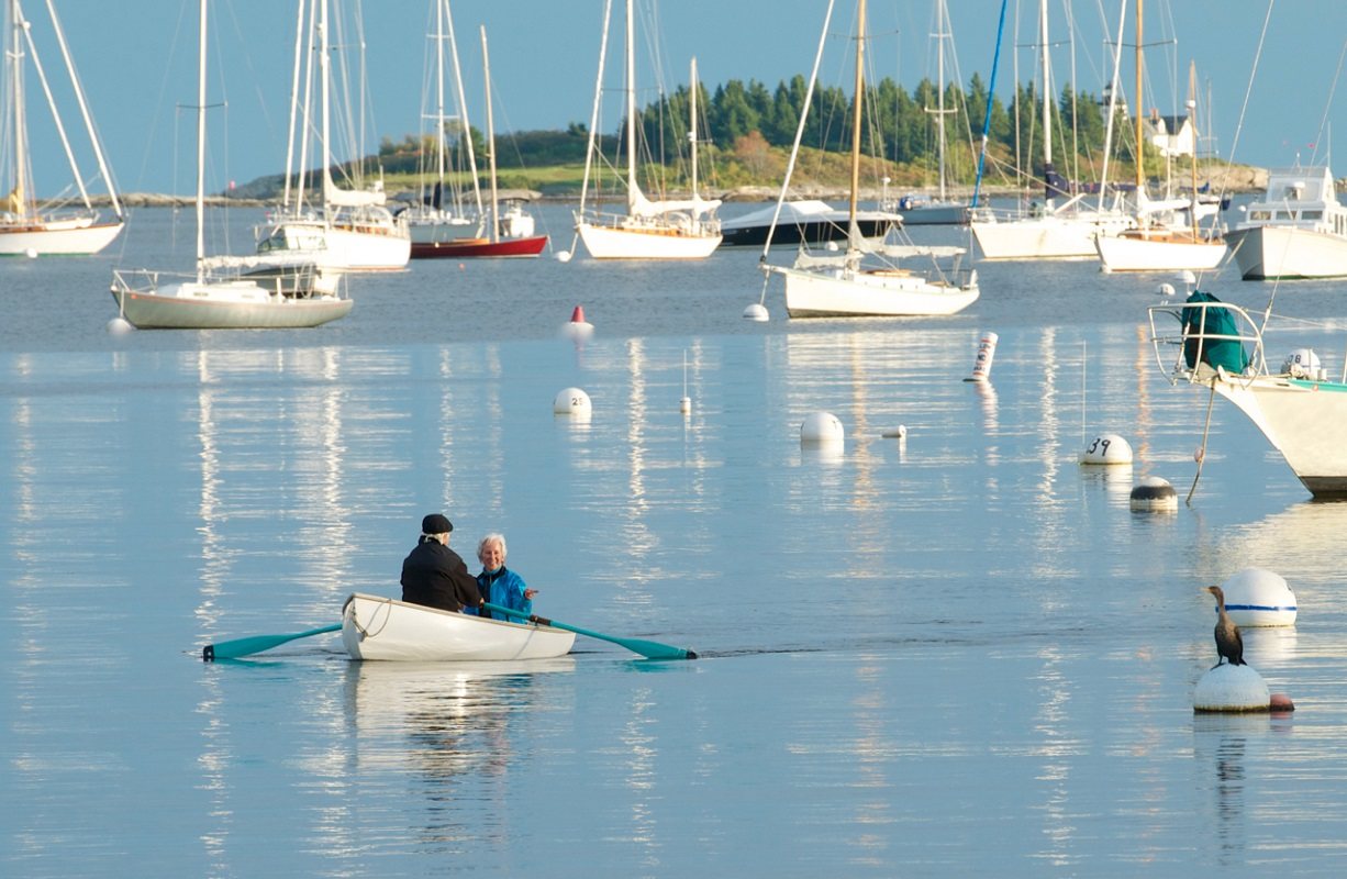 Rowing in Rockport Harbor - Digital (Phototravel) - Name Withheld Per Request