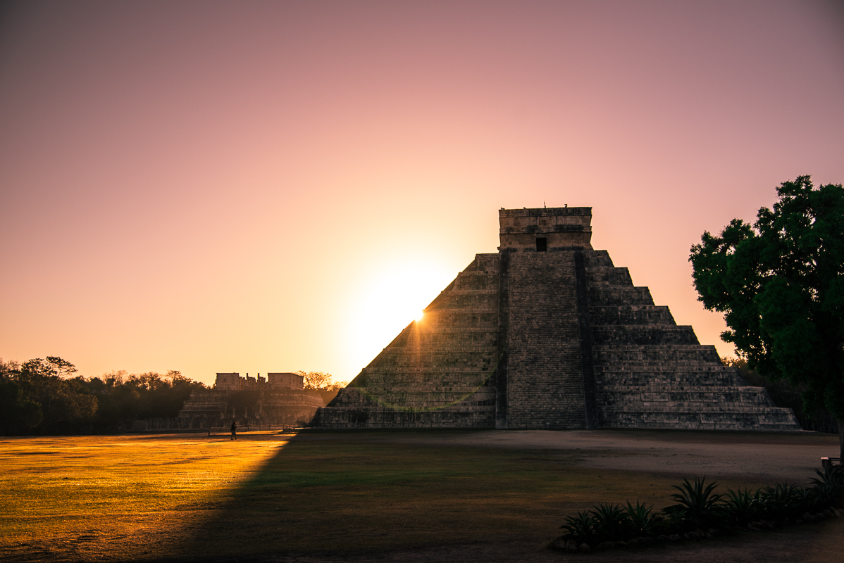 Sunset at Chichen Itza - Yucatan, Mexico - Digital (Phototravel) - Name Withheld Per Request