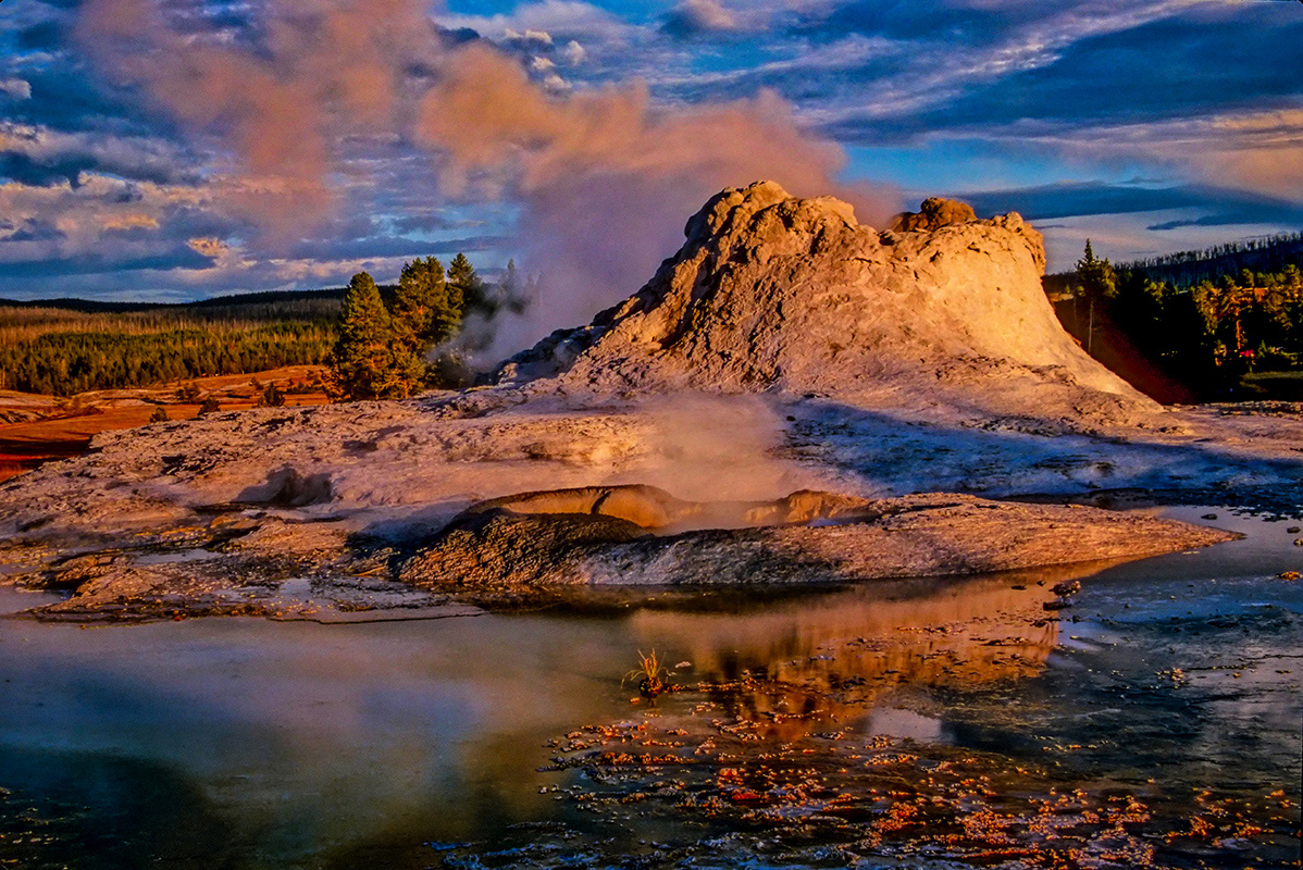 Yellowstone Geyser - Digital (Phototravel) - Name Withheld Per Request