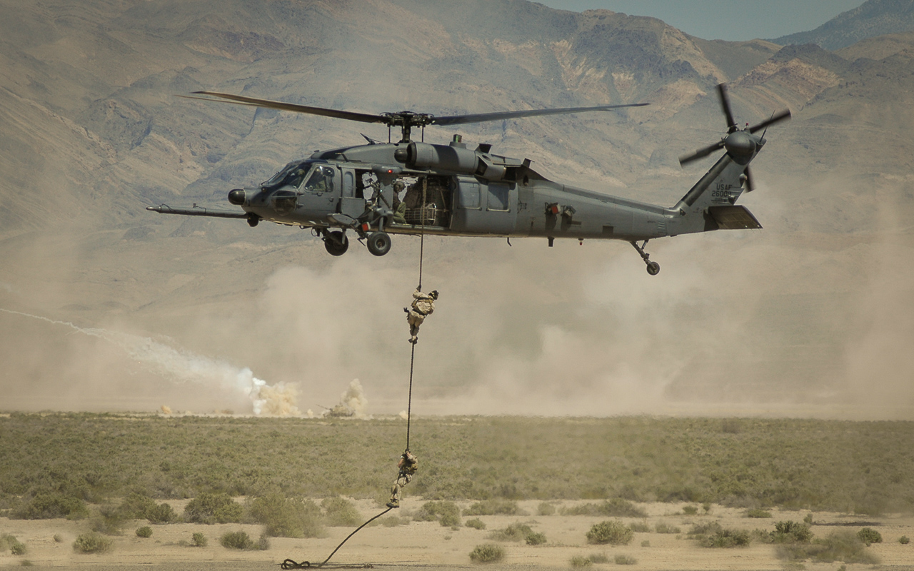 Fast-Roping Out of a HH-60 Pavehawk - Digital (Photojournalism) - Name Withheld Per Request