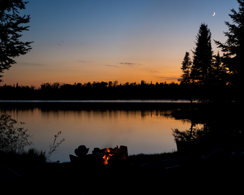 Campfire at Wood Lake - Digital(Silhouette) - Steve Simmer