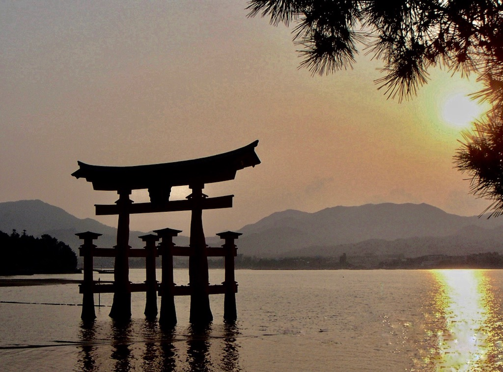 Shrine at Miyajima - Digital(Silhouette) - Name Withheld Per Request