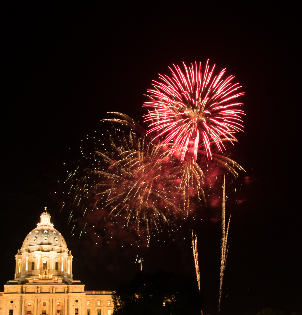 Capitol Fireworks - Color Print (Open) - Name Withheld Per Request
