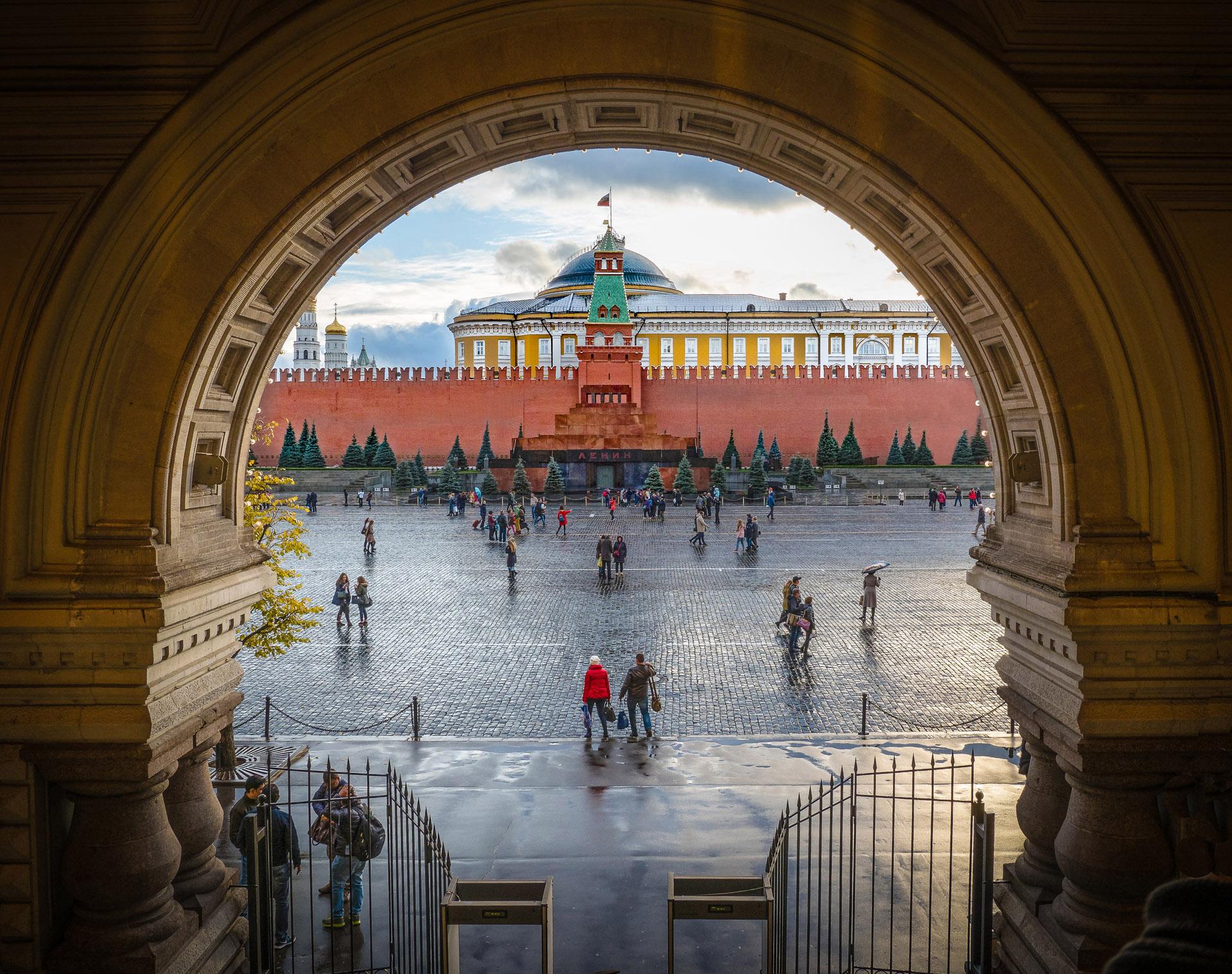Red Square - Lenin's Tomb - Color Print(Open) - Bob Muschewske
