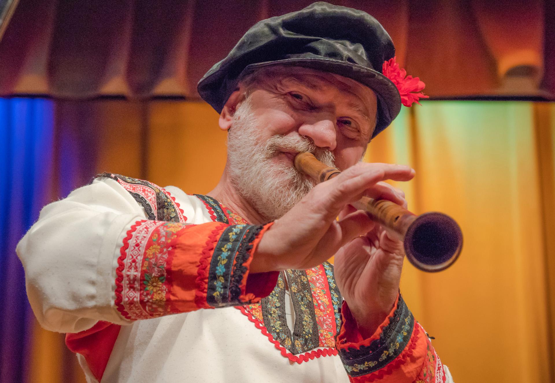 Russian Folk Musician - Color Print(Open) - Bob Muschewske