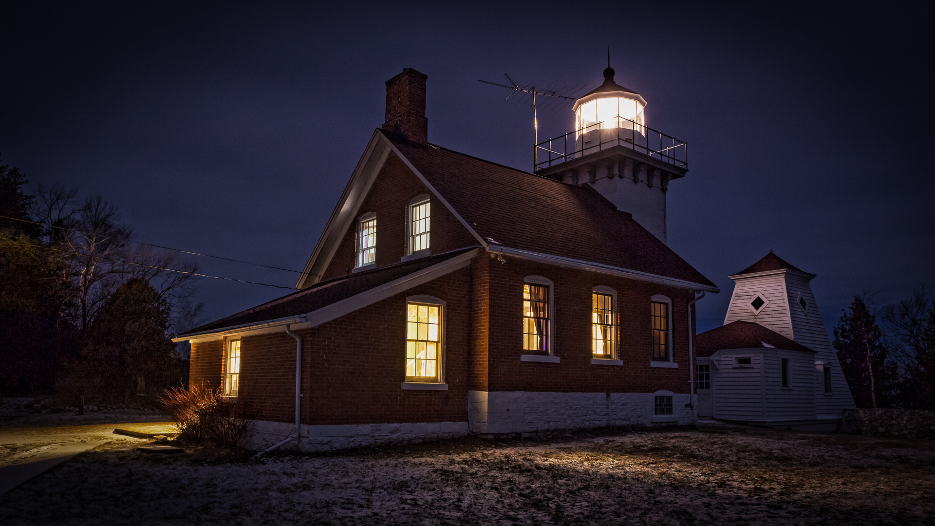 Sherwood Point Lighthouse, Door County Wisconsin - Digital (Artificial Light) - Joe Schufman