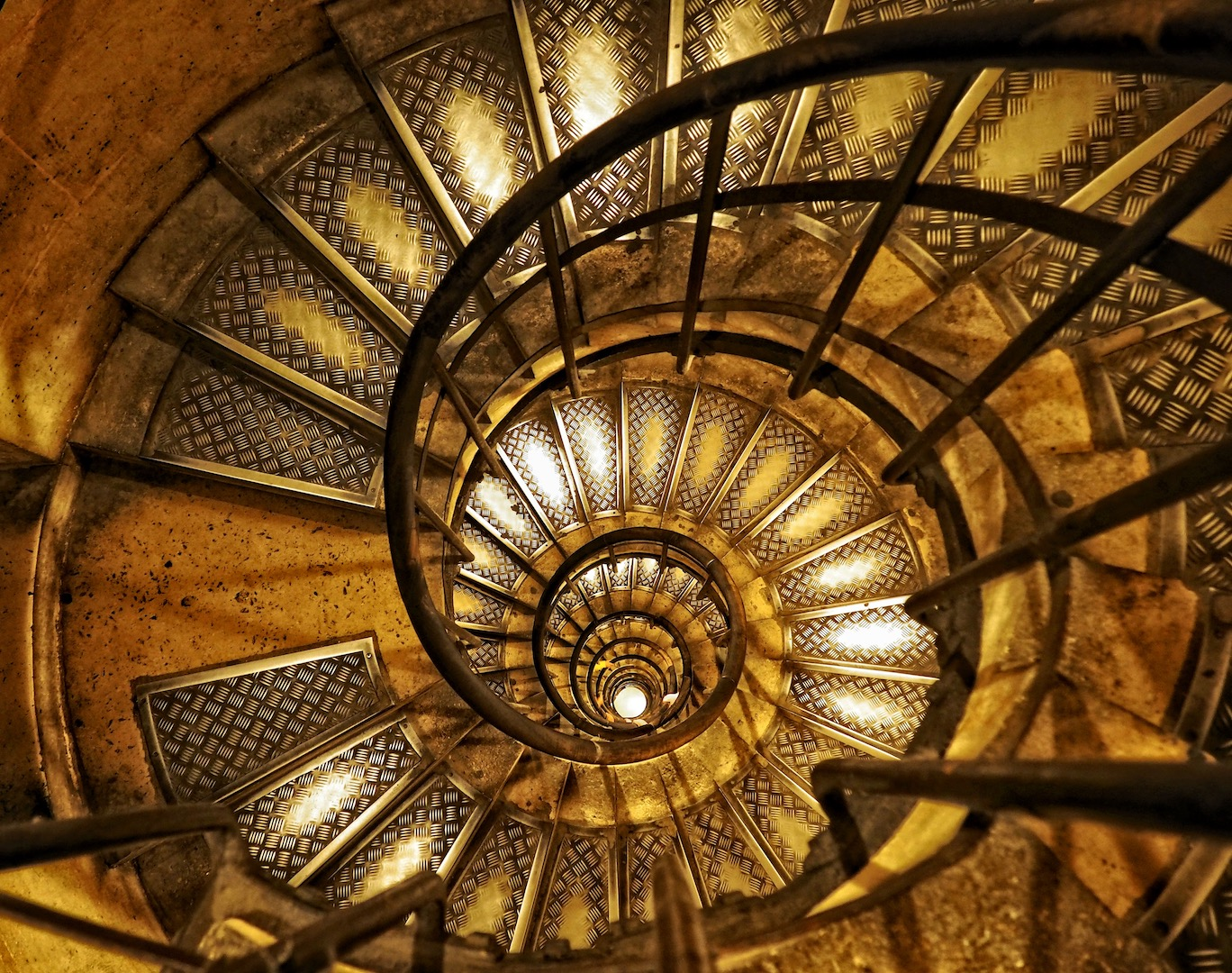Spiral Stairwell of Arc de Triomphe, Paris - Digital (Artificial Light) - Name Withheld Per Request
