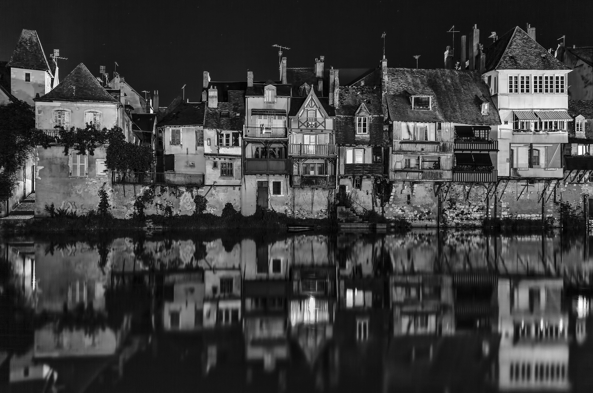 Agenton River Reflections - Monochrome Print (Open) - Name Withheld Per Request