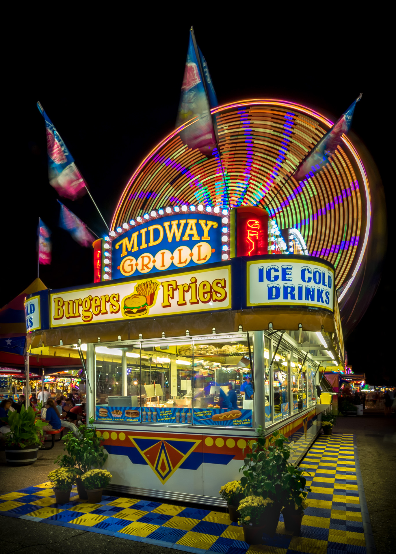 Midway Grill - Digital (Night) - Cindy Carlsson