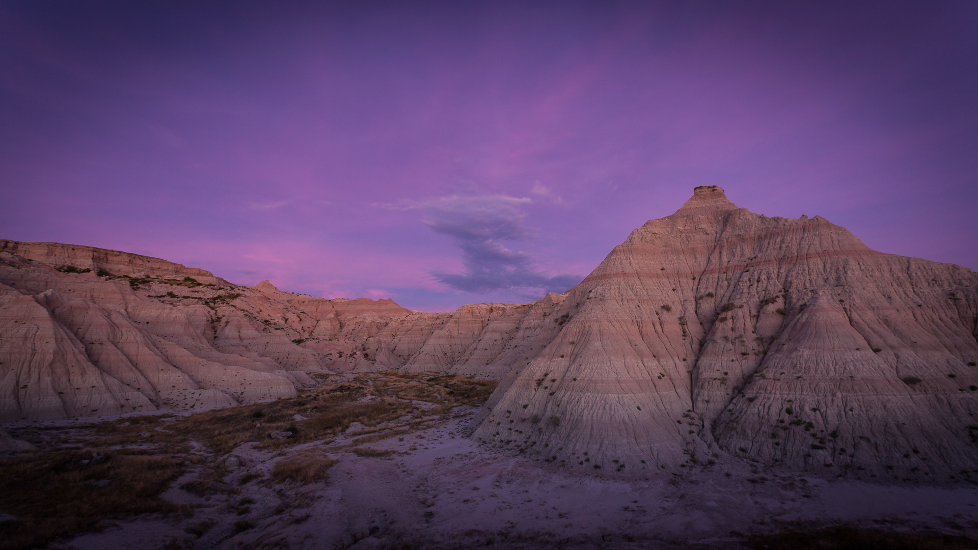 Badlands in Late Twilight - Digital (Night) - Joe Schufman