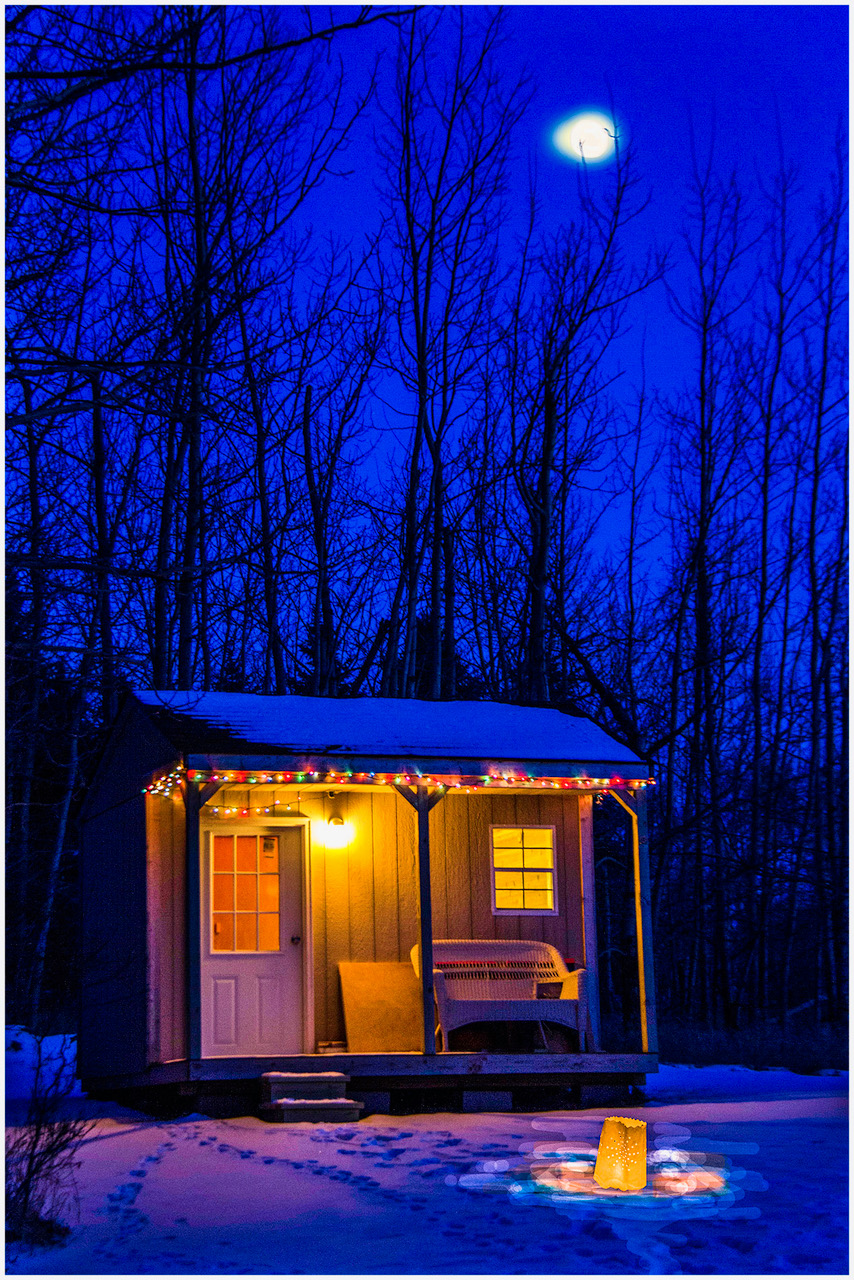 Sauna On a Cold Night - Digital (Night) - Name Withheld Per Request