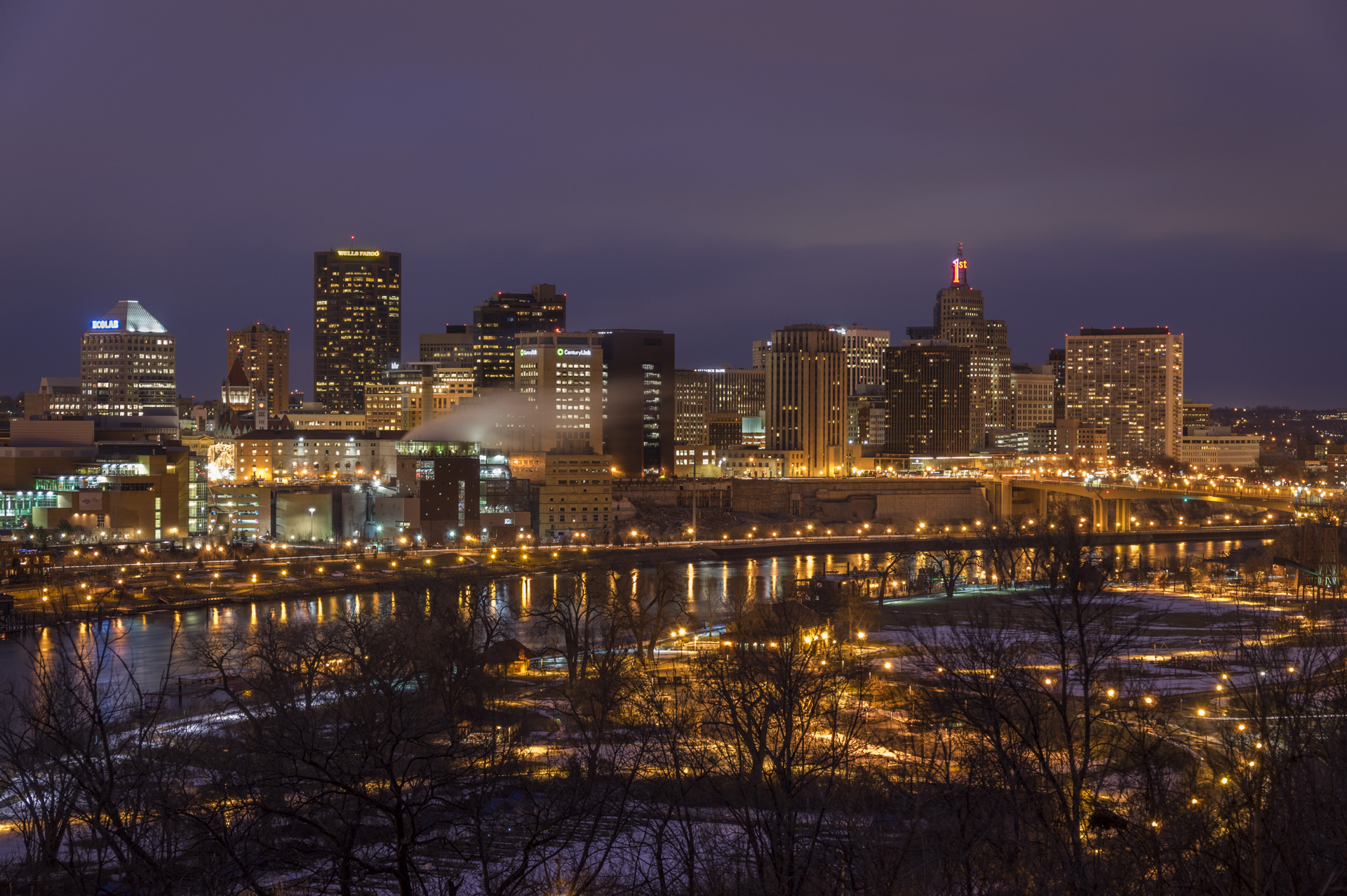 St Paul After Dark - Digital (Night) - Steve Simmer