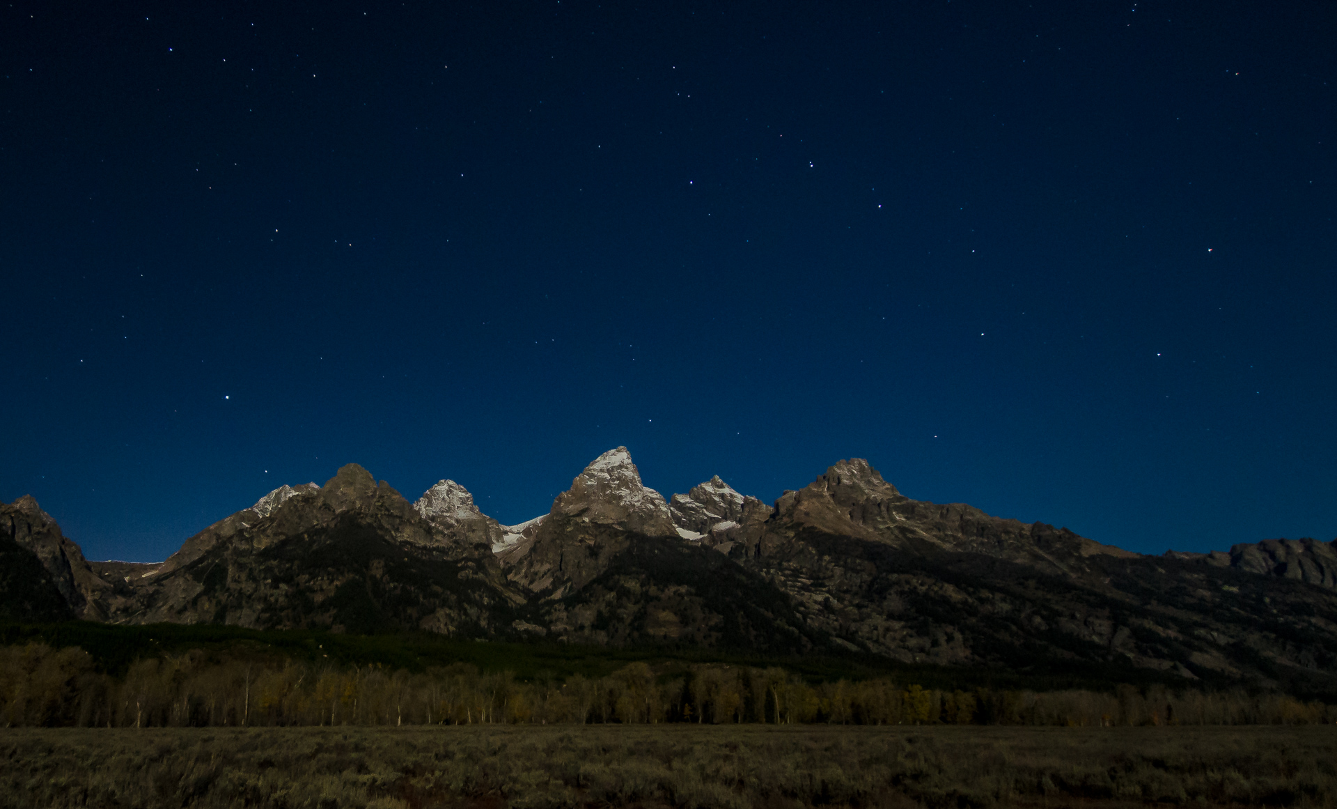 Tetons by Moonlight - Digital (Night) - Name Withheld Per Request