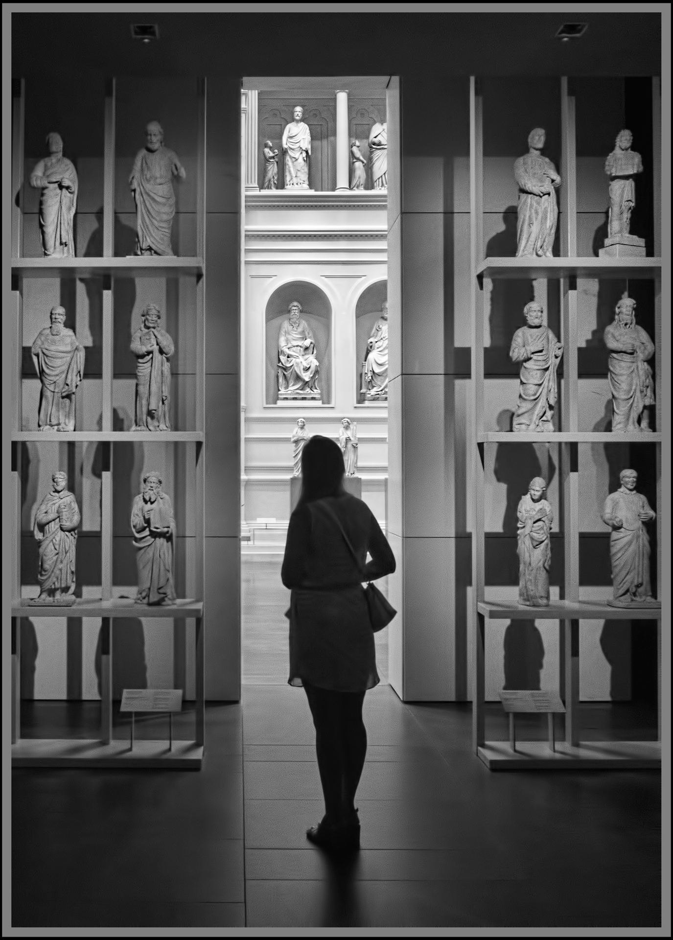 Silhouette in the Florence Gallery - Monochrome Print (Open) - Name Withheld Per Request