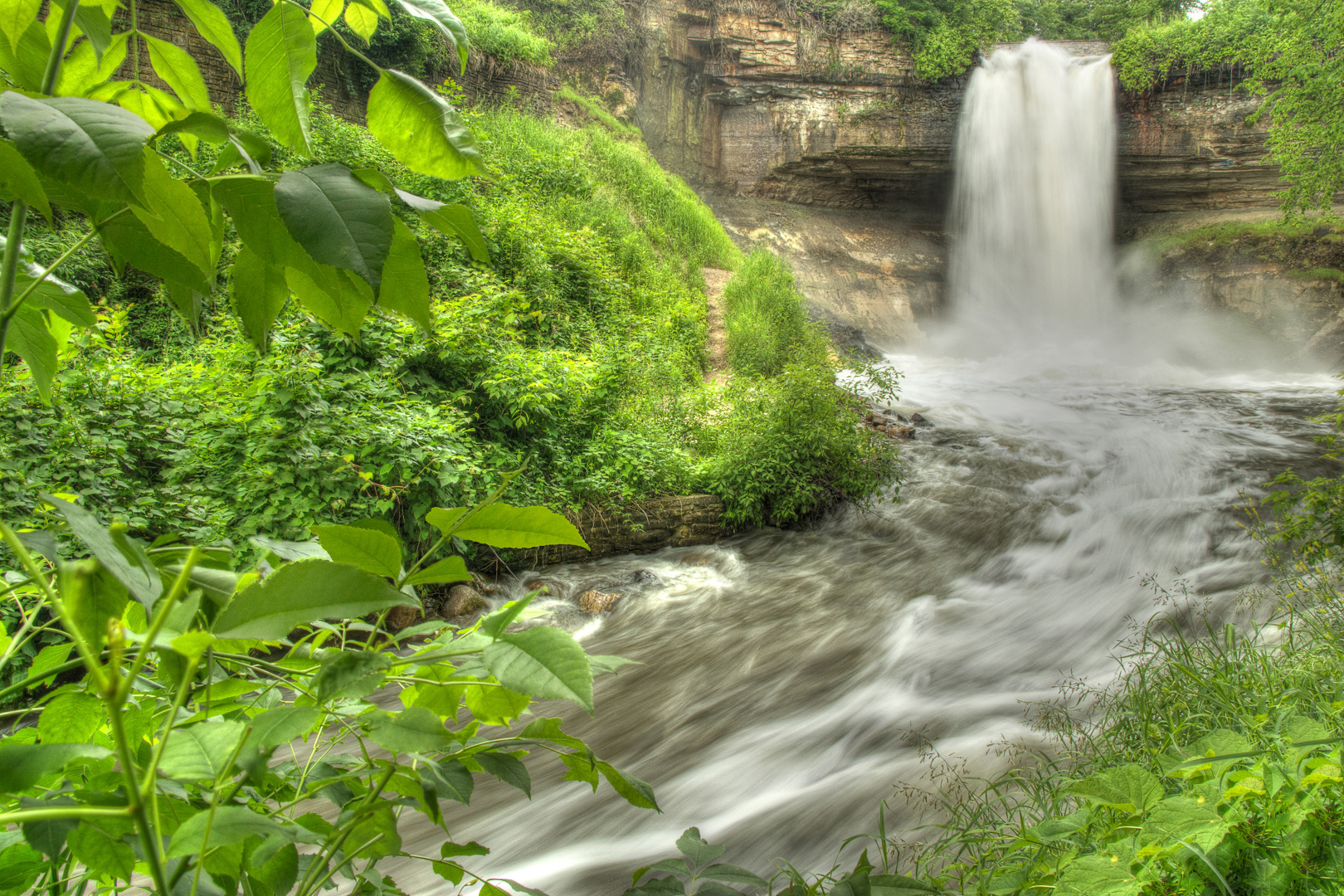 Minnehaha Falls - Color Print (Open) - Name Withheld Per Request