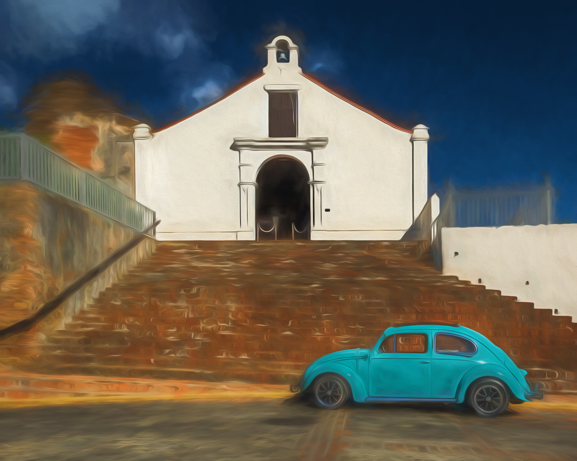 Blue Bug San German Puerto Rico - Color Print (Open) - Cindy Carlsson