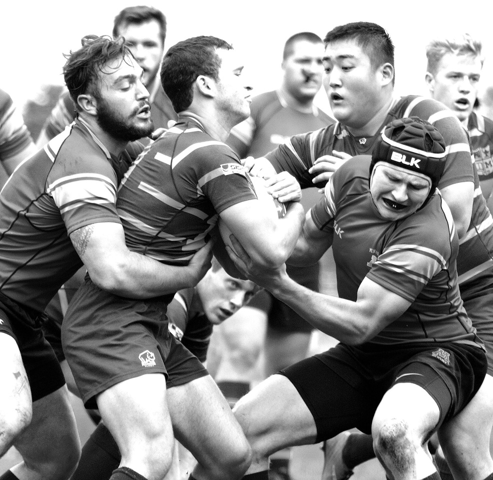 Rugby Take Down - Monochrome Print (Open) - Name Withheld Per Request