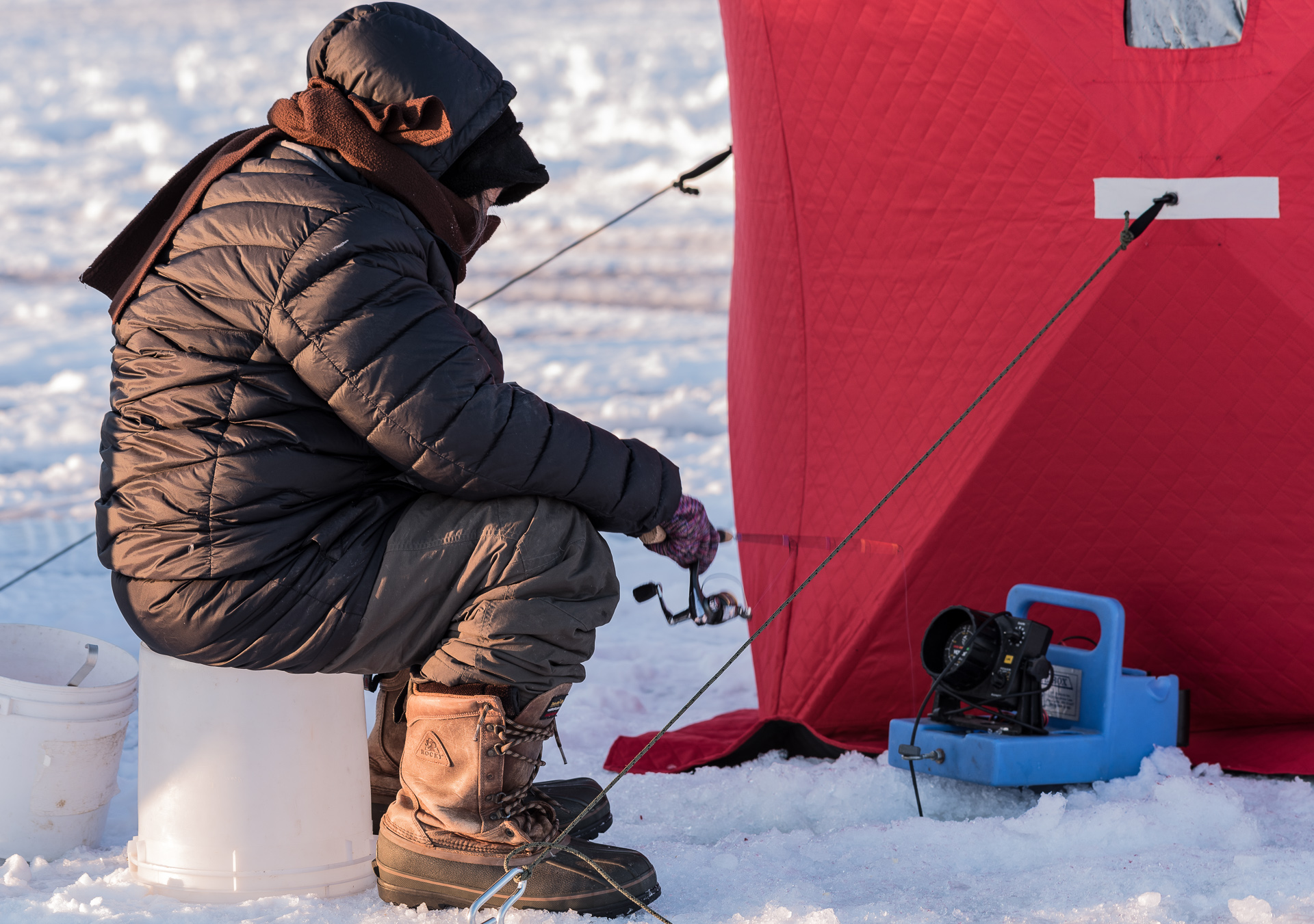 Ice Fishing on Lake Peltier - Digital (Winter) - Name Withheld Per Request