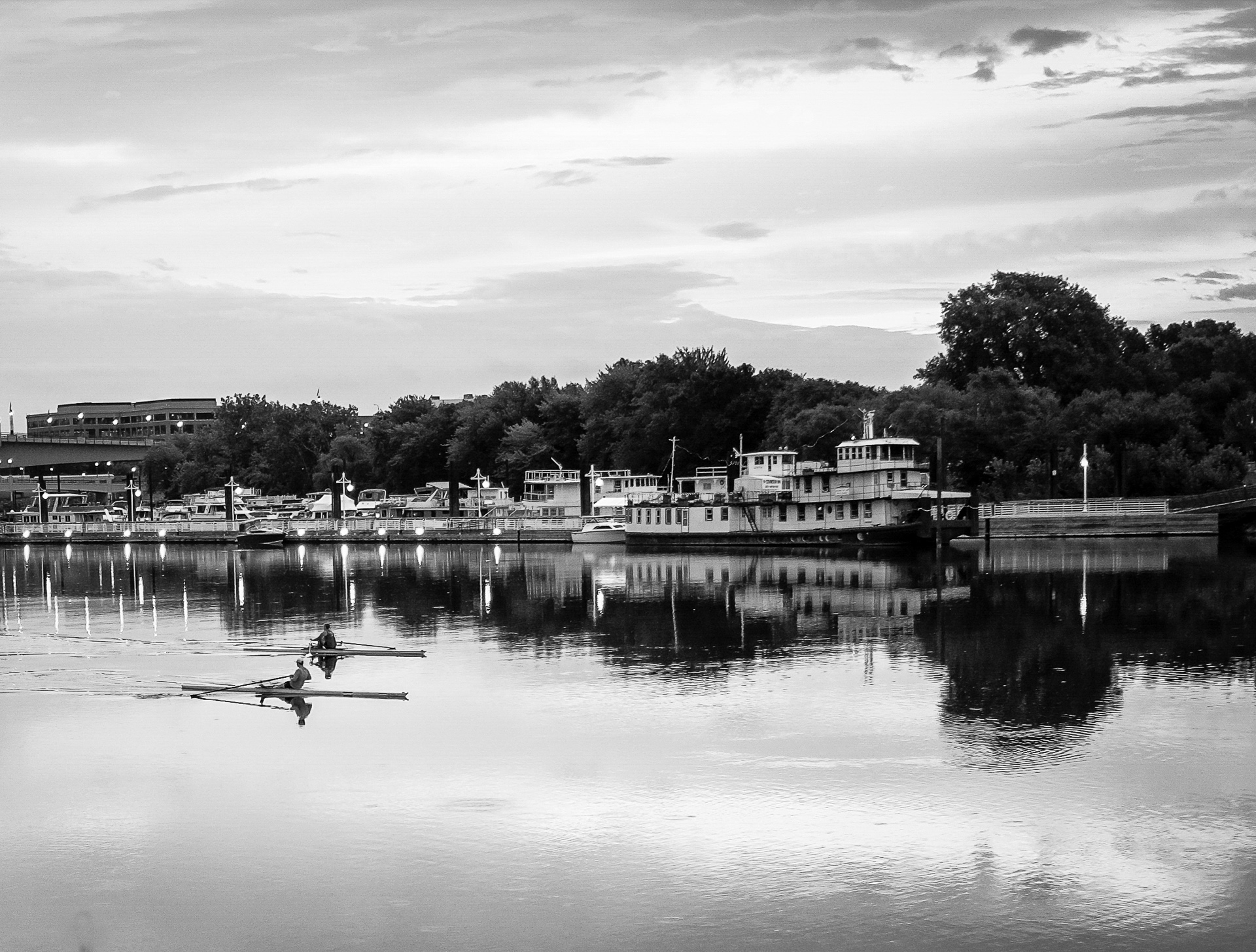 Early Morning Row - Monochrome Print (Open) - Name Withheld Per Request