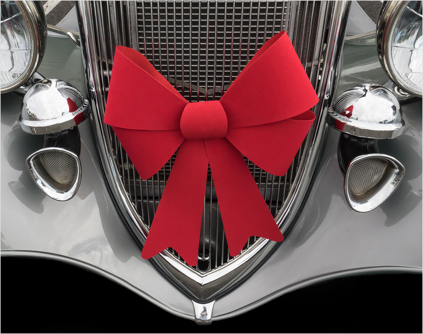 Christmas at Car Show - Color Print (Open) - Peggy Boike